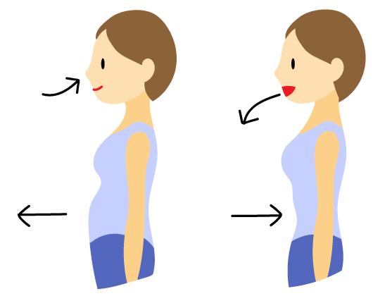 腹式呼吸を意識